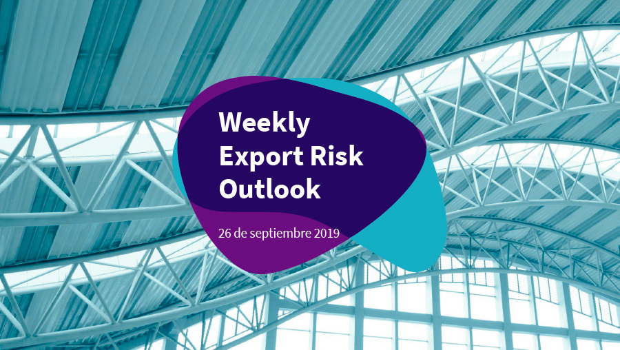 Weekly Export Risk Outlook 26-09-2019