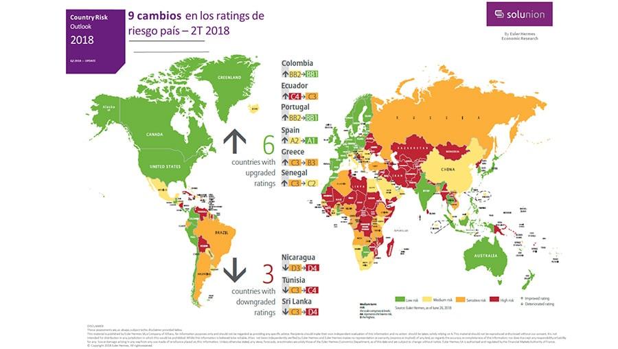 Mapa de riesgo país SOLUNION