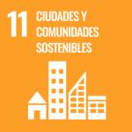 Logo ODS 11: ciudades y comunidades sostenibles