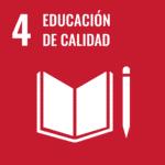 Logo ODS 4: educación de calidad