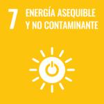 Icono ODS 7: energía asequible y no contaminante