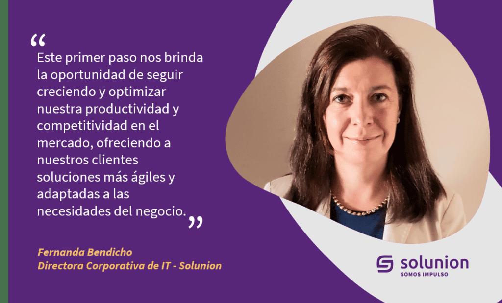 Fernanda Bendicho, directora de Tecnología de Solunion