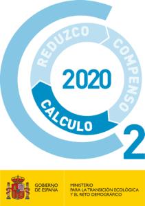 sello huella de carbono solunion 2020 con calificación C