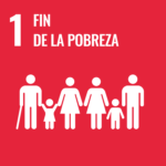Logo ODS 1: fin de la pobreza